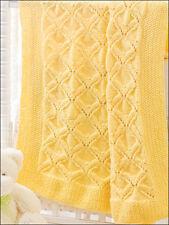 """Ailes d'ange Aran bébé couverture 34 """"x 34"""" motif tricot"""