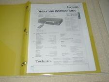 TECHNICS SL-P720 COMPACT DISC OPERATING INSTRUCTIONS