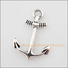 12Pcs Tibetan Silver Tone Anchor Charms Pendants 18x26mm