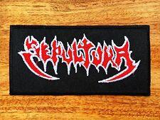 SEPULTURA PATCH Embroidered Iron On Thrash Metal Logo Badge Schizophrenia