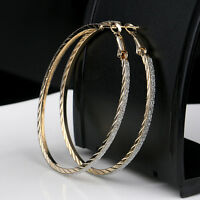 Charm Hoop Round Dangle Earring Jewelry Women Large Crazy Earrings Hot Fashion E