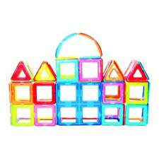 Fun with Magnets Magnetic Building Blocks - 332 piece set
