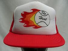 THE HEAT - BASEBALL - VINTAGE - TRUCKER STYLE SNAPBACK BALL CAP HAT!