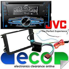 VW Jetta 2005 en Fascia Kit & JVC Doble Din CD MP3 Usb Aux In 4x50W auto estéreo