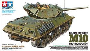 Tamiya 35350 1/35 Scale Model Kit U.S Tank Destroyer M10 Mid Production