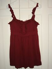 NWT Juicy Couture mODAL ruffle TANK in Port size LARGE retail $128