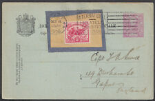 More details for 1926 usa white plains 2c fdc,exhibition slogan on montenegro stationery postcard