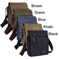 Men Canvas Hiking Messenger Bag Satchel School Shoulder Bag Sling Crossbody Bag
