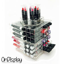 NEW! DELUXE MAKEUP ORGANIZER - SIENA ACRYLIC ROTATING COSMETIC STORAGE DISPLAY