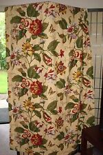 "WAVERLY Laurel Springs Floral Curtain Panels (2)  50"" x 84"" Lined Cotton"
