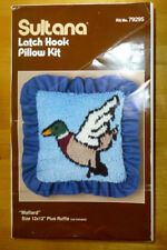 Sultana Latch Hook Pillow Kit Mallard 12 X 12 NIB #79295 + Hook