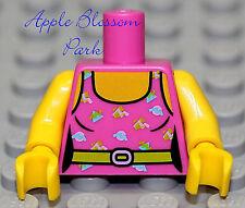 NEW Lego Female Minifig PINK TORSO -Minifigure City Girl w/Tank Top Shirt & Belt