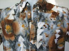 Reyn Spooner 1970s era vintage abstract western? pullover shirt unusual fabric
