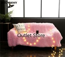 Throw Blanket Soft Long Shaggy Children Bed Cover Sofa Bed Couch Blanket  Adult