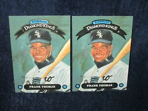 (2) 1991 Donruss Diamond Kings Lot Frank Thomas #DK-8
