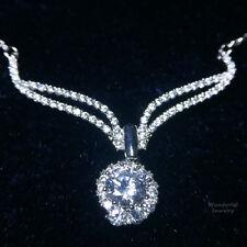 "Lab Diamond Gorgeous 4.46 Ct Angel Wing Pendant Choker Necklace 16"" Gold Plate"