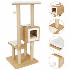 48'' Cat Tree Bed Furniture Scratching Tower Post Condo Kitten Play House