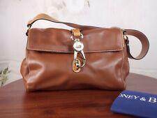 Dooney & Bourke - Smooth Leather Libby Hobo Handbag Logo Lock - Natural Brown