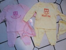 NWT LOT OF (2) INFANT 3-6 MONTHS PINK YELLOW 3 PIECE PANTS SHIRT HEADBAND SETS