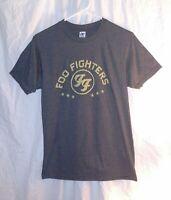 Foo Fighters Optima Mens T-Shirt Size Small Gray Yellow Band Rock Music Rare