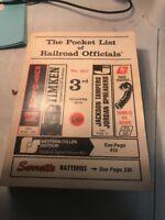 1976 THE POCKET LIST OF RAILROAD OFFICIALS #327 3rd quarter book,