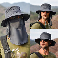 Hot Fishing Bucket Hat Outdoor Sport Sun Protection Neck Face Flap Cap Wide Brim