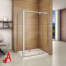 1000x900mm Semi-frameless Shower Screen Pivot Door Width Adjustable