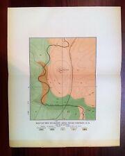 1897 Map Survey of Iowa Diabase Area Near Corson SD Keyes Knob Great Northern RR