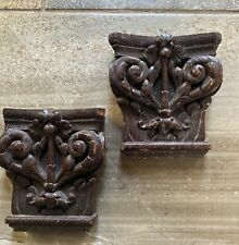 16th Century Carved Oak Capitals