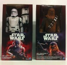 New Chewbacca & Flame Trooper 12'' Figure Set - Star Wars The Force Awakens