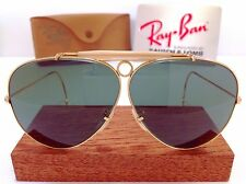 MINT 1950s RAY BAN B&L 1/10 12K GF USA SHOOTER AVIATOR G15 CASE SHOOTING VINTAGE