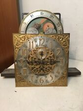 Antique Math. Bauerle German 5 Tube Chime Hall Clock Movement Dial Hands