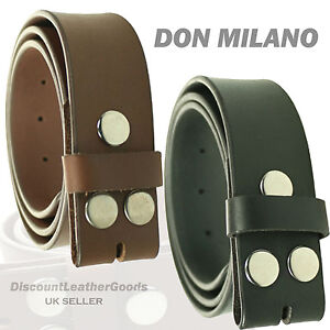 Exclusive 38mm Popper Press Stud Best Quality Leather Belt Designed By MILANO