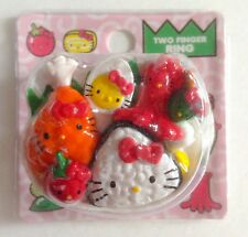 Hello Kitty Sushi Onigiri Bento Tempura 2 Finger Ring Kawaii