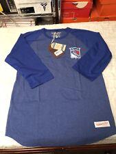 New York Rangers Mitchell & Ness Raglan Sz L
