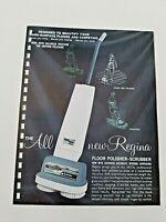 Vintage REGINA Floor POLISHER - SCRUBBER 1962 Pages from Manar Sales Catalog