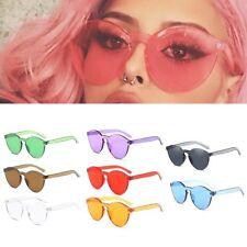Fashion Women Men Clear Retro Sunglasses Outdoor Frameless Eyewear Glasses