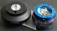 NRG STEERING WHEEL QUICK RELEASE HUB 2.1 BLUE-NEO FOR FORD MUSTANG