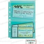 "Martha Stewart Avery Sheet Protectors 5.5"" x 8.5"" Secure Top Load Teal 2-Pockets"