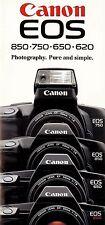 Canon Eos 850-750-650-620 Slr 35mm Camera Brochure -Canon Eos-from 1988