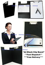A4 noir presse-papiers solid fold-over nouveau bureau porte-documents remplissage clip board