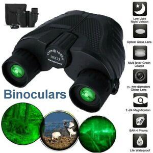 Day/Night 10x25 Military Zoom Powerful Binoculars Optics Hunting Camping+Case el