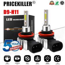2x H11 H8 LED Headlight KIT Fog Bulb Light Hi/Lo Beam 6000K VS Xenon HID White
