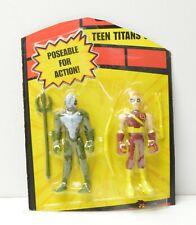 "Teen Titans Go! Bandai 2004 Speedy+Trident 3.5"" action figure set NIP Cut Card"