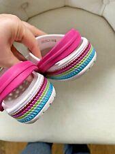 Crocs Girls Toddler Sandals Rubber Pink Sequins Sz 8 ~ RARE ~