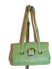 Isabella Fiore Light Green Women's Shoulder Bag Purse Clutch Small Leather