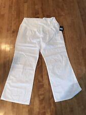 Women's White cherokee maternity scrub pants