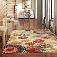 Rugs Area Carpet Rug Floor Modern Large Beige Medallion New
