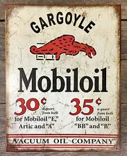 GARGOYLE MOBILOIL Motor Oil Vintage Tin Metal Sign