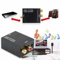 Digital zu Analog Konverter Audio Wandler +Toslink/ Chinch/ Netzteil Kabel *NEU*